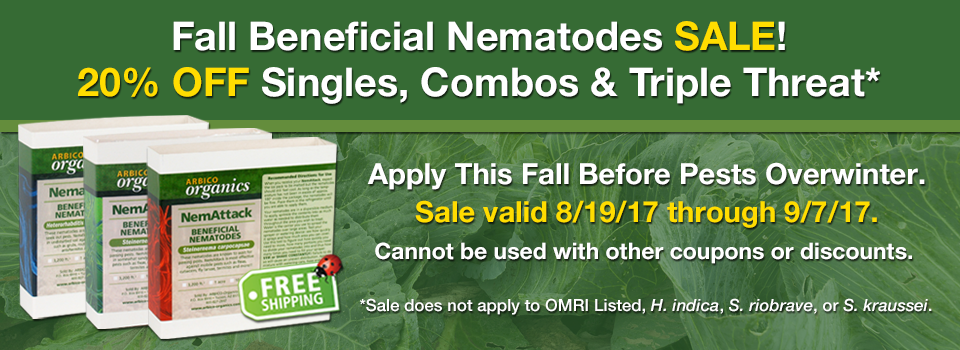 20% Off Beneficial Nematodes