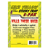 Pest Wizard® Mini Yellow Sticky Trap